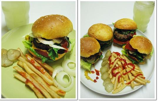 çocuklar için evde hamburger