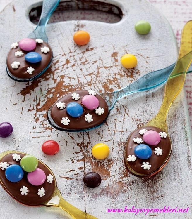 çocuklar için kaşık çikolata tarifi