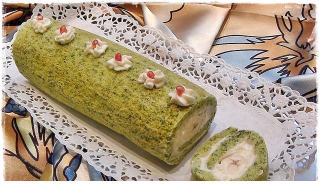 ıspanaklı rulo yaş pasta