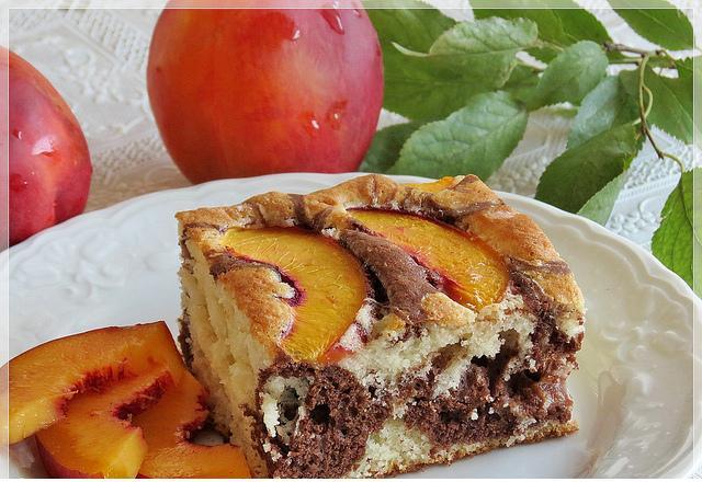 şeftali dilimli kalıpta kek tarifi