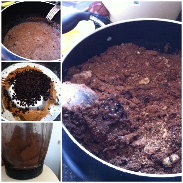 Bitterli Çikolata Topları aşamaları