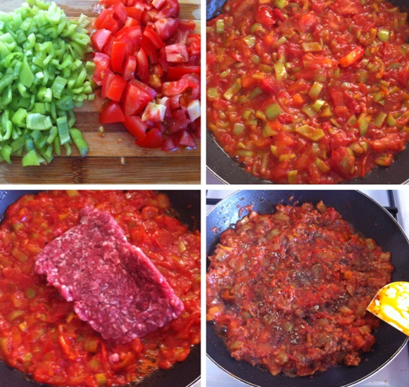 Sebzeli Kıymalı Burgu Makarna sosu tarifi