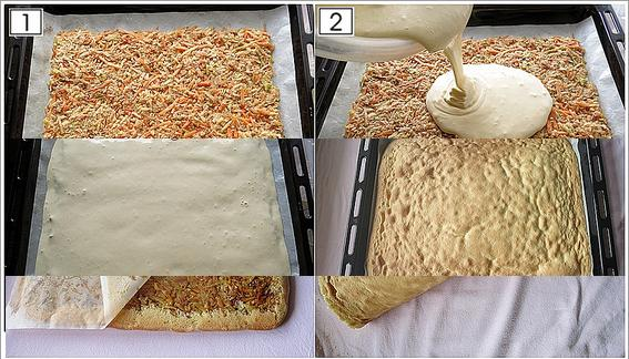 elmalı rulo kek yapımı