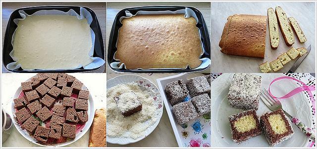 hindistan cevizli lokumlu kek yapımı