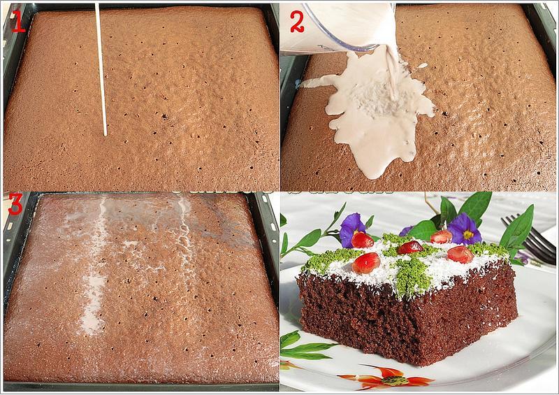 narlı ıslak kek yapımı