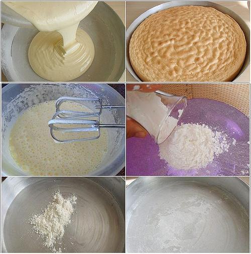 pastalar için pandispanya keki