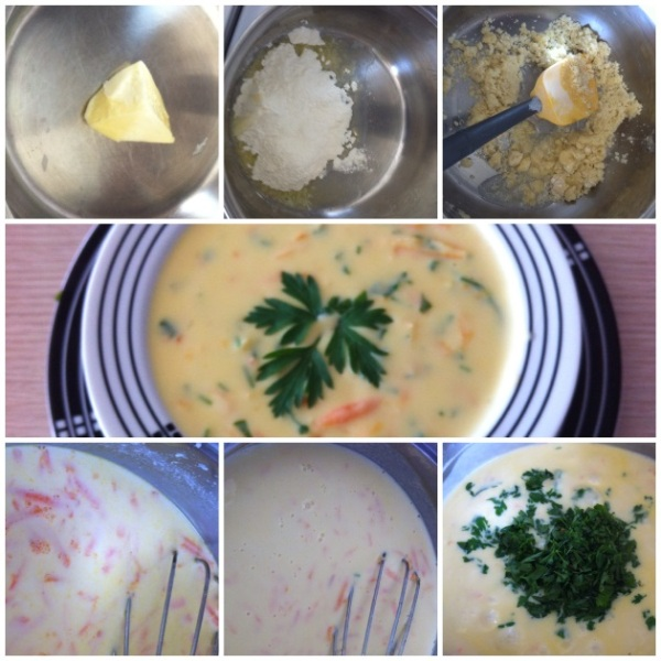 sütlü aşçı çorbası aşamaları