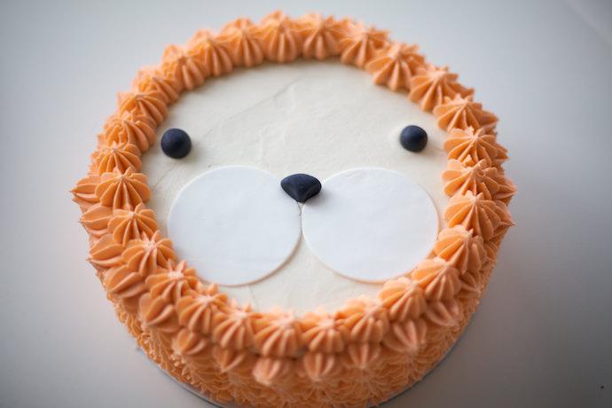 aslan kek burun ve gözleri hazırlama