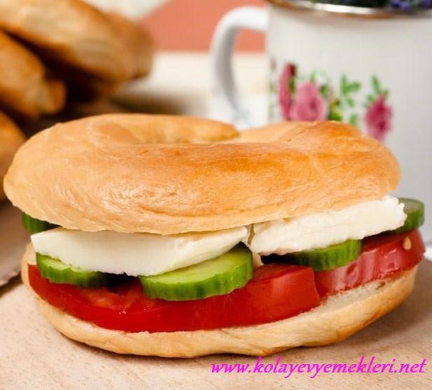 bagel amerikan ekmeği tarifi