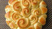 Kızılcık ve Beyaz Çikolatalı Çelenk Ekmek
