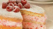 Ahududulu ve Kremalı Ceneviz Keki (Pastası)