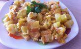 Kaşarlı Patatesli Omlet