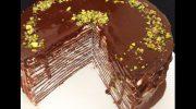 Kolay Çikolatalı Krep Pasta Tarifi