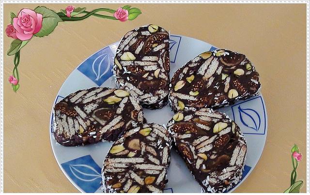 bitter çikolatalı mozaik tarif