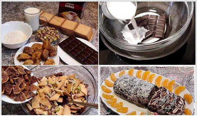 bitter çikolatalı mozaik tarifi