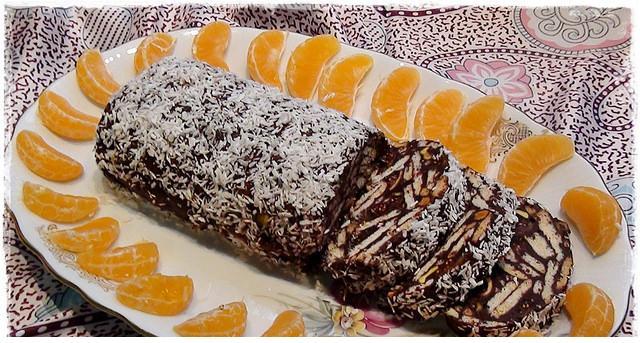 bitter çikolatalı mozaik