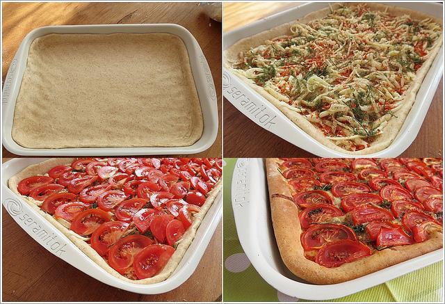 dilim domatesli pizza