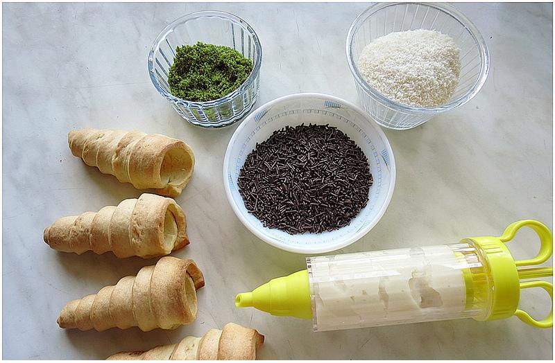 dondurma külahlı kurabiye yapılışı