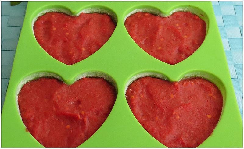 dondurulmuş domates