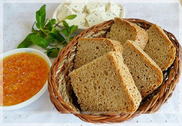 ekmek makinasında kepekli ekmek