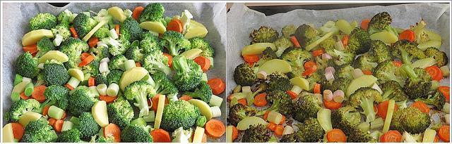 fırında brokolü ve sebze kızartması
