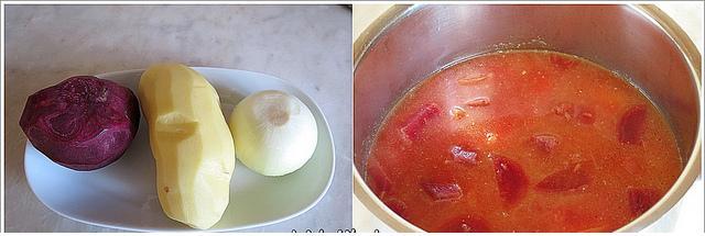 kaşar peynirli kırmızı pancar çorbası