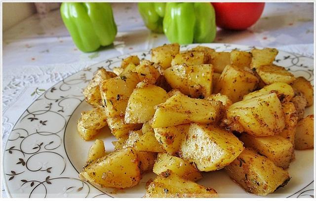 kahvaltılar için haşlanmış patates kızartması