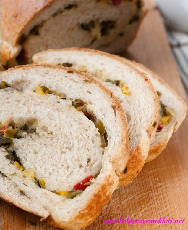 sebzeli sarma ekmek yapılışı