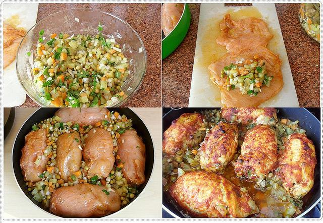 sebzeli tavuk dolması