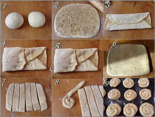 tahinli gül çöreği