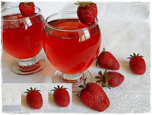 yaz ayları için çilek suyu