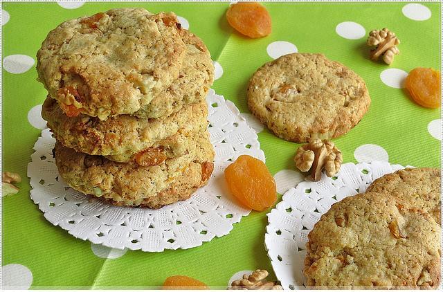 yulaf unlu kayısılı kurabiye